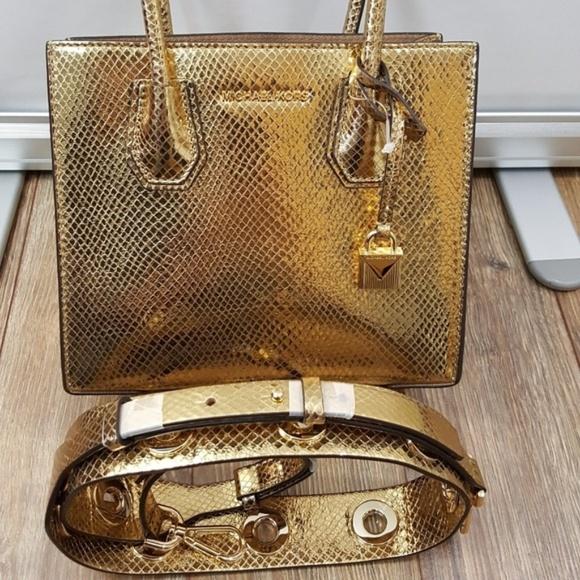 1e084ad60fd0 Michael Kors Mercer Metallic Gold NEW